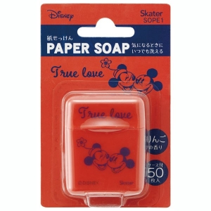 Skater Paper Soap 50 Sheets 【Mickey Mouse】